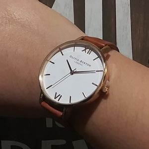Olivia Burton Big Dial Leather 38mm Women's Watch